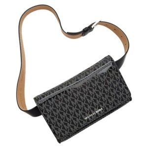 Michael Kors Black Monogram Belt Bag Fanny Pack